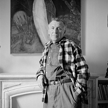 Marc Chagall in seinem Atelier in St. Paul de Vence